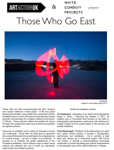 'Those Who Go East' press release-1
