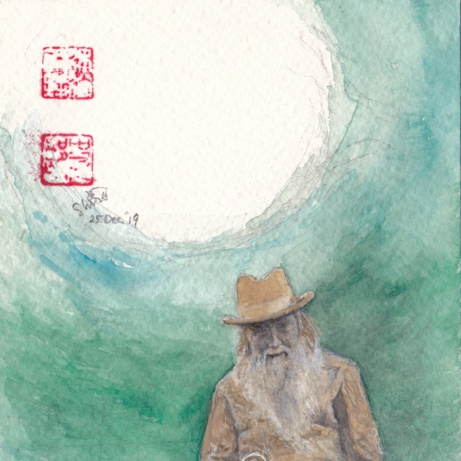 John Ruskin watercolor-Nagase Shonin